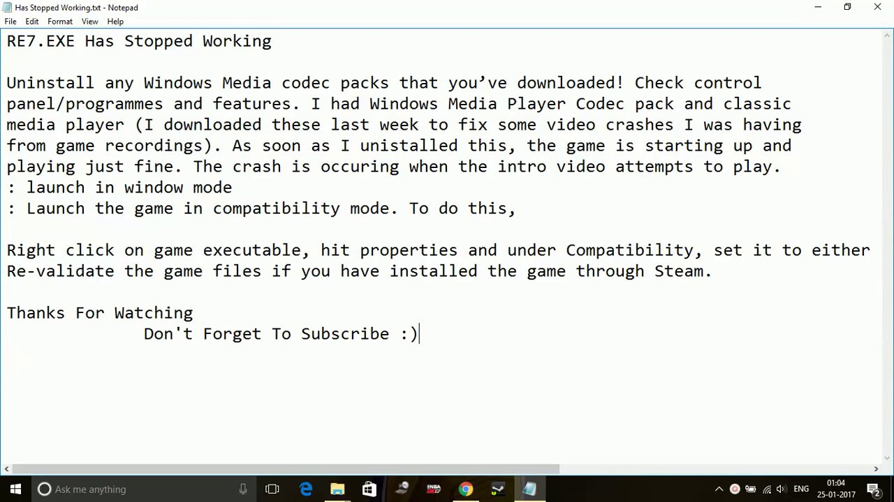 Resident Evil 7- RE7 exe Has Stopped Working [FIXED] [Working]