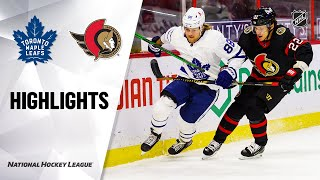 NHL Highlights | Maple Leafs @ Senators 1/16/21