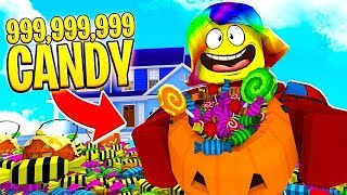 I got the ROBUX COSTUME and got 999,999,999 BILLION CANDY.. (Roblox)