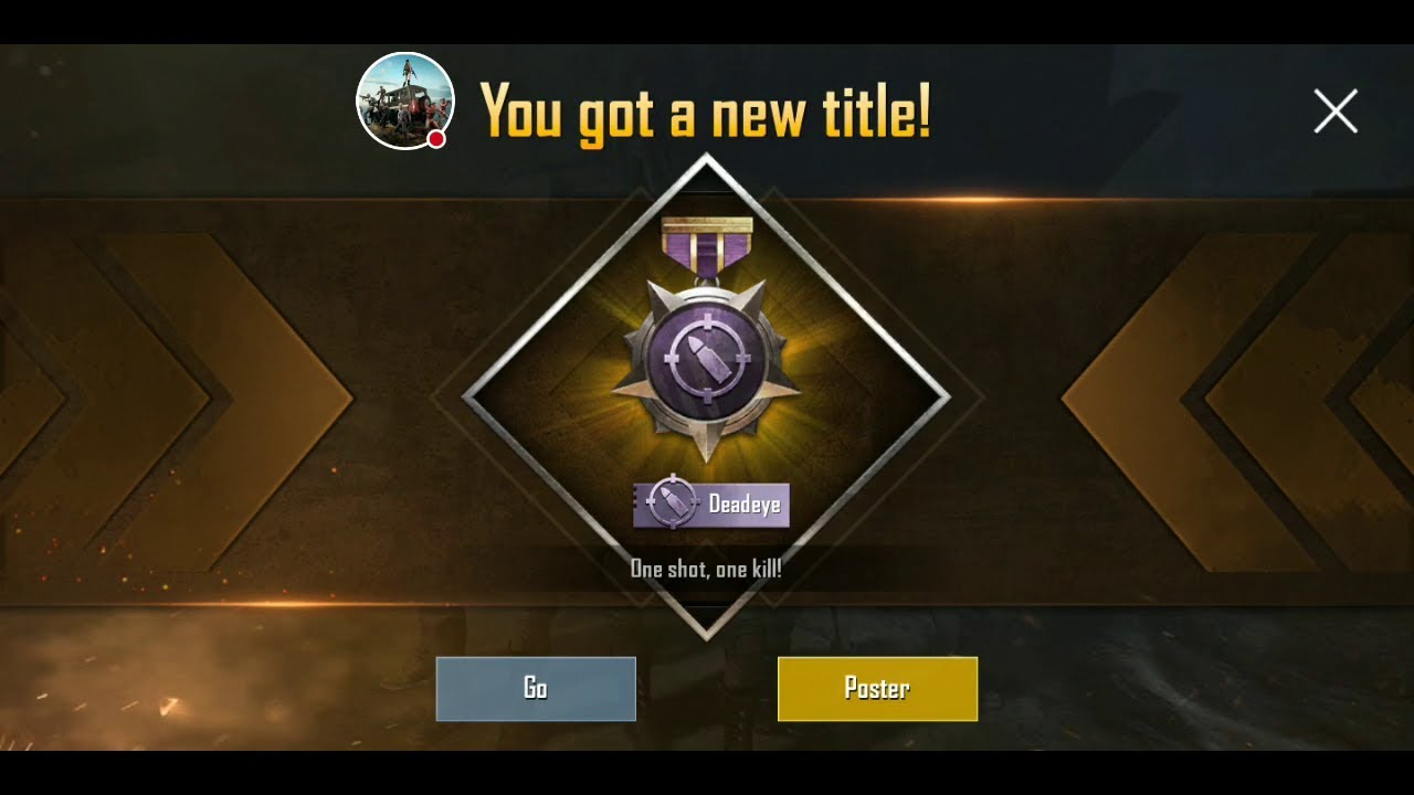 Deadeye Title in pubg mobile -Easiest way to complete Sharpshooter  Achievement [HINDI] - YouTube