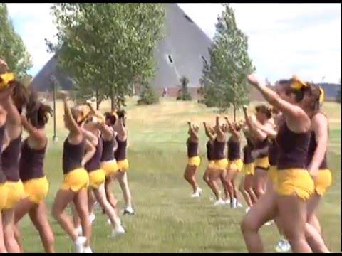 Going inside Wyoming Cheerleading practice