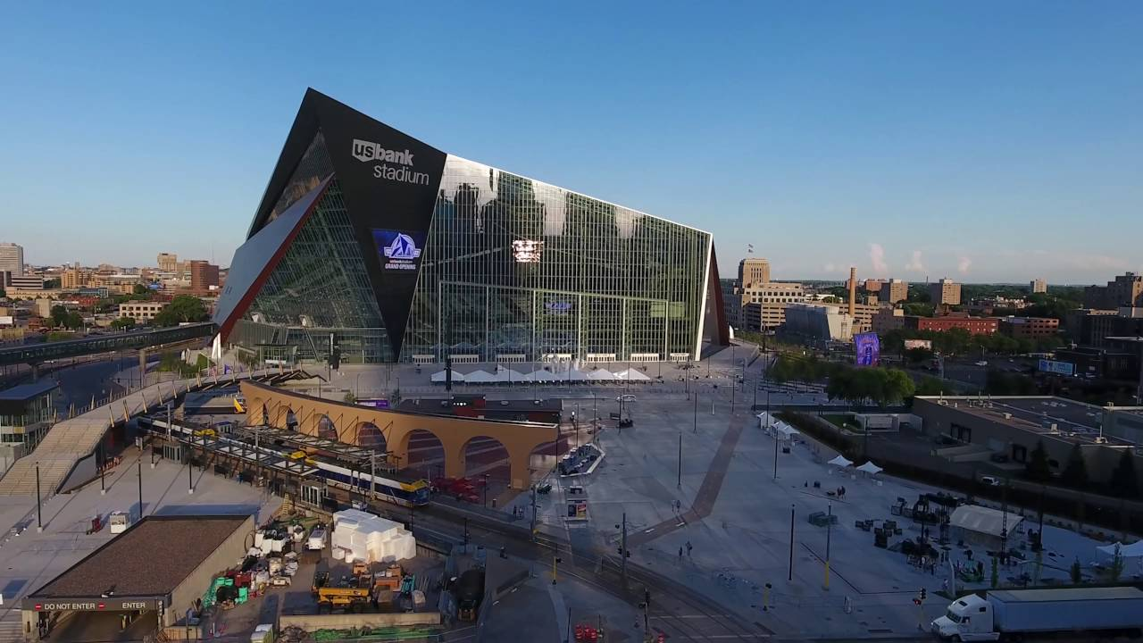 Exterior: U S Bank Stadium By Drone