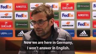 Klopp refuses to speak English in Germany