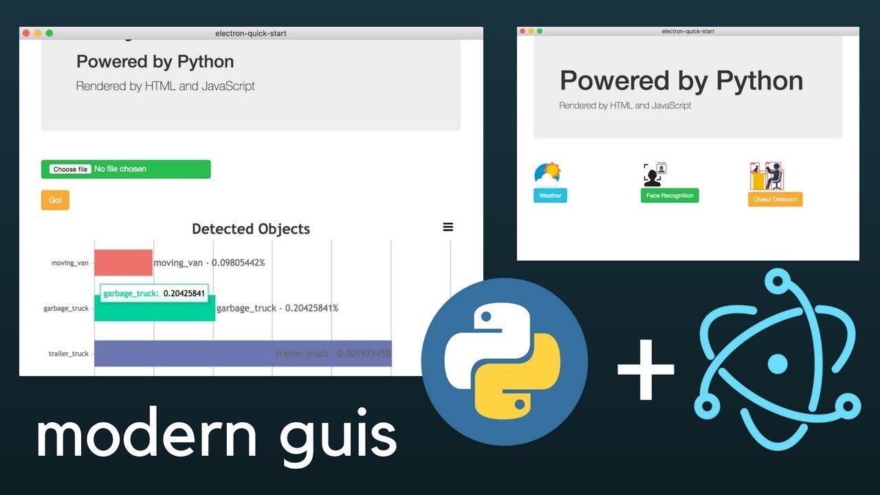 Making modern GUIs with Python and ElectronJS