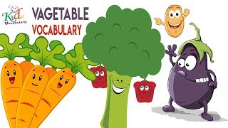 Vocabulary Practice|Vegetable Names| English Words | Toddler Learning | Kids