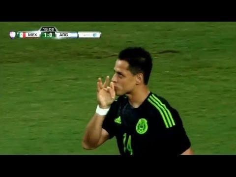 Gol de Chicharito Hernandez - Mexico vs Argentina 1-0 AMISTOSO INTERNACIONAL 2015