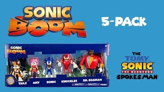 Sonic Boom 5 pack unboxing with Dabbing Knuckles