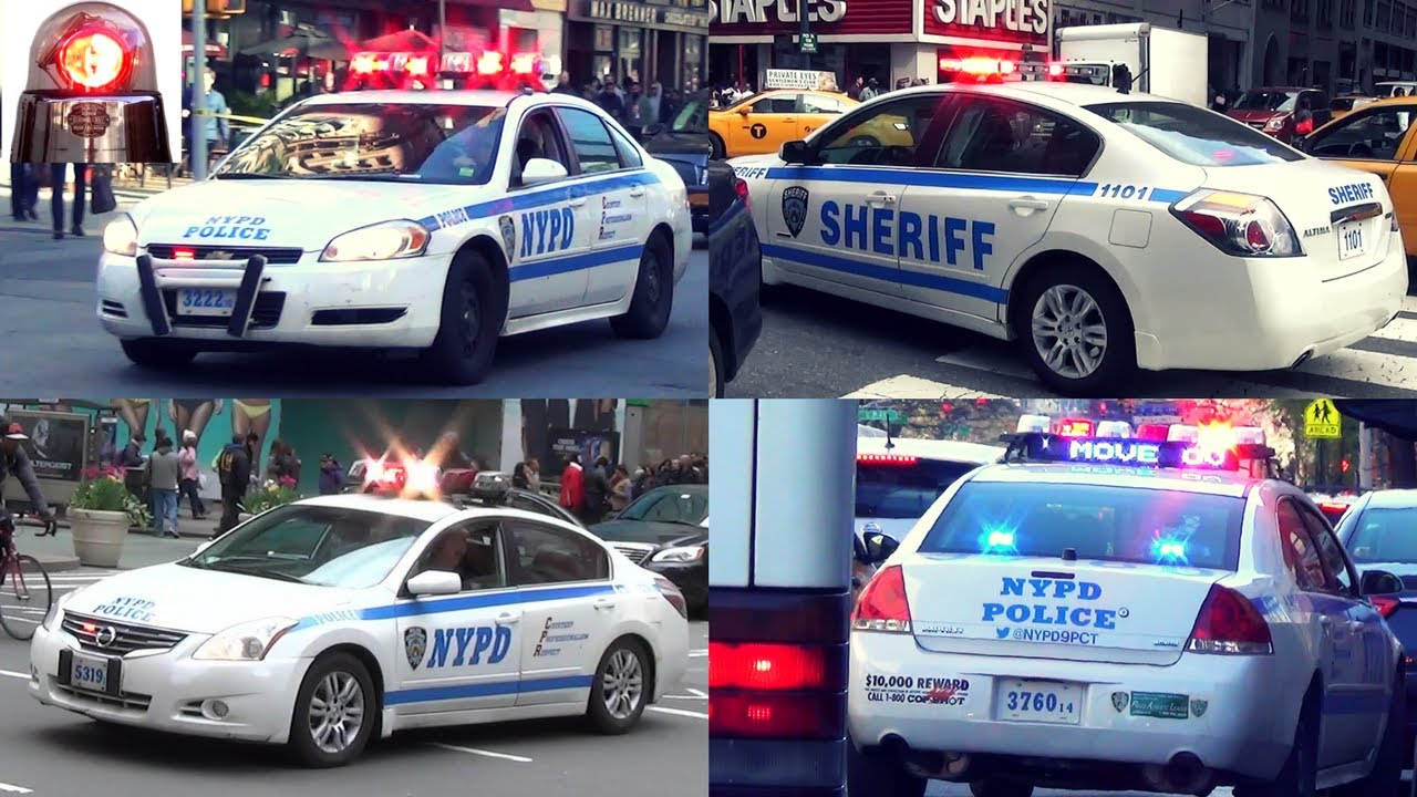 Nypd Compilation Of Police Cars New York Sheriff Helicopter Traffic Stops