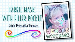 How To Make A Fabric Face Mask With Filter Pocket   Sewing For Beginners