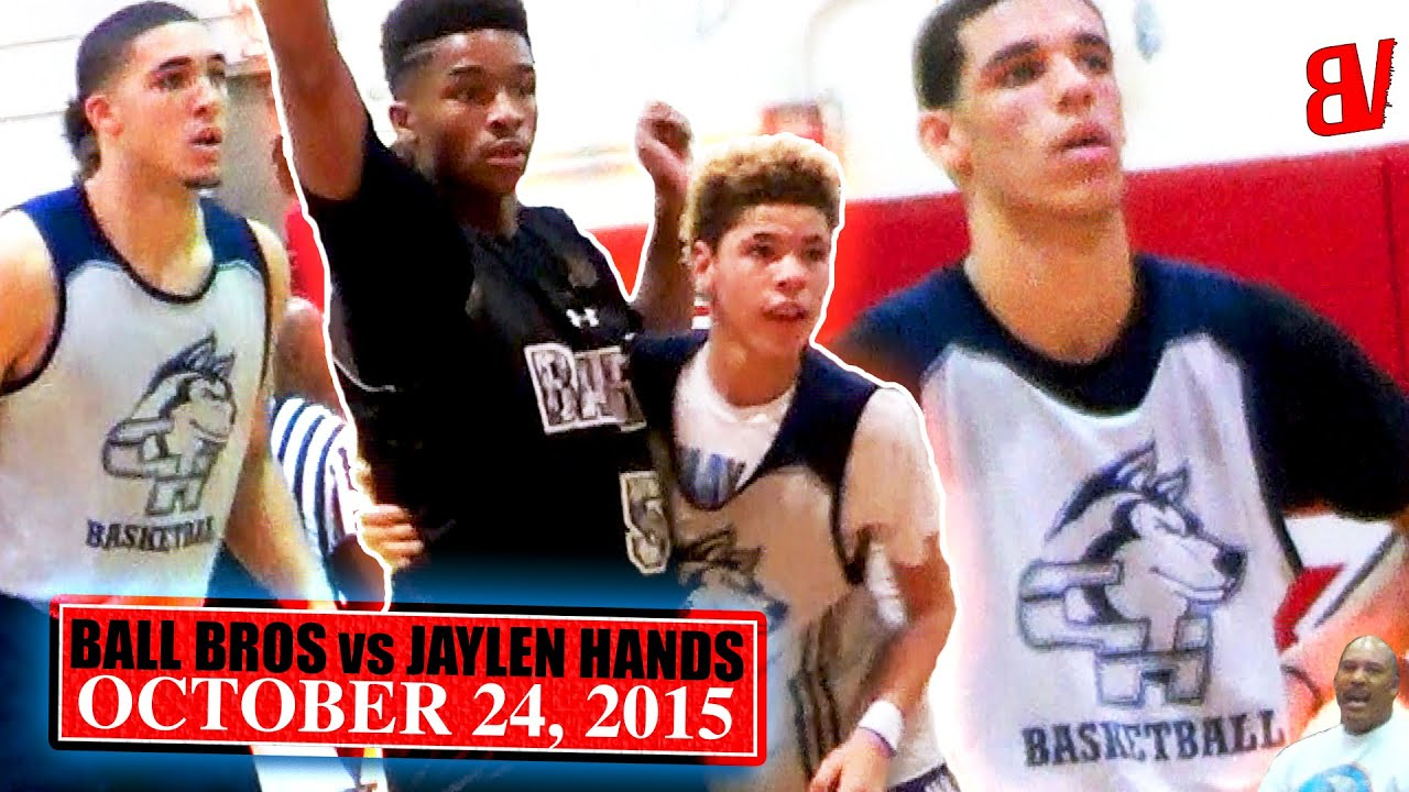 The 1st Time I Saw The Ball Brothers Lamelo Liangelo Lonzo Ball Vs Jaylen Hands Youtube