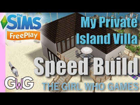 The Sims Freeplay- Speed Build: My Private Island Villa
