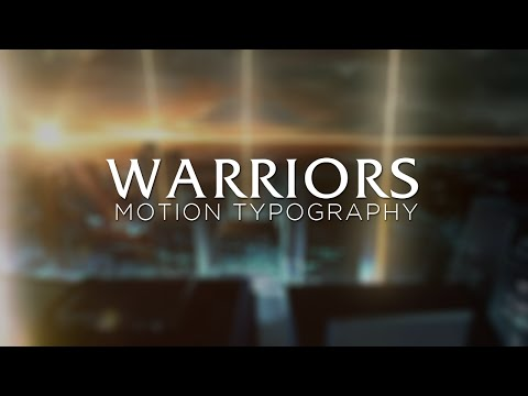 IMAGINE DRAGONS: WARRIORS - LYRIC VIDEO  [Motion Typography] (League of Legends)