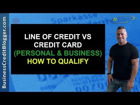 Line of Credit vs Credit Card - Business Credit 2019
