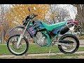 Kawasaki KLX 650 exhaust sound and acceleration compilation