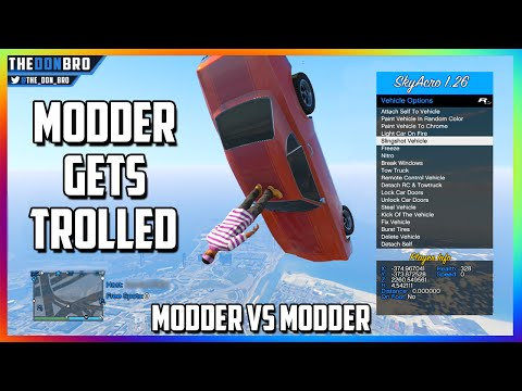 GTA 5 ONLINE - MODDER GETS TROLLED - MODDDER VS MODDER WAR (FUNNY MOD MENU TROLLING)