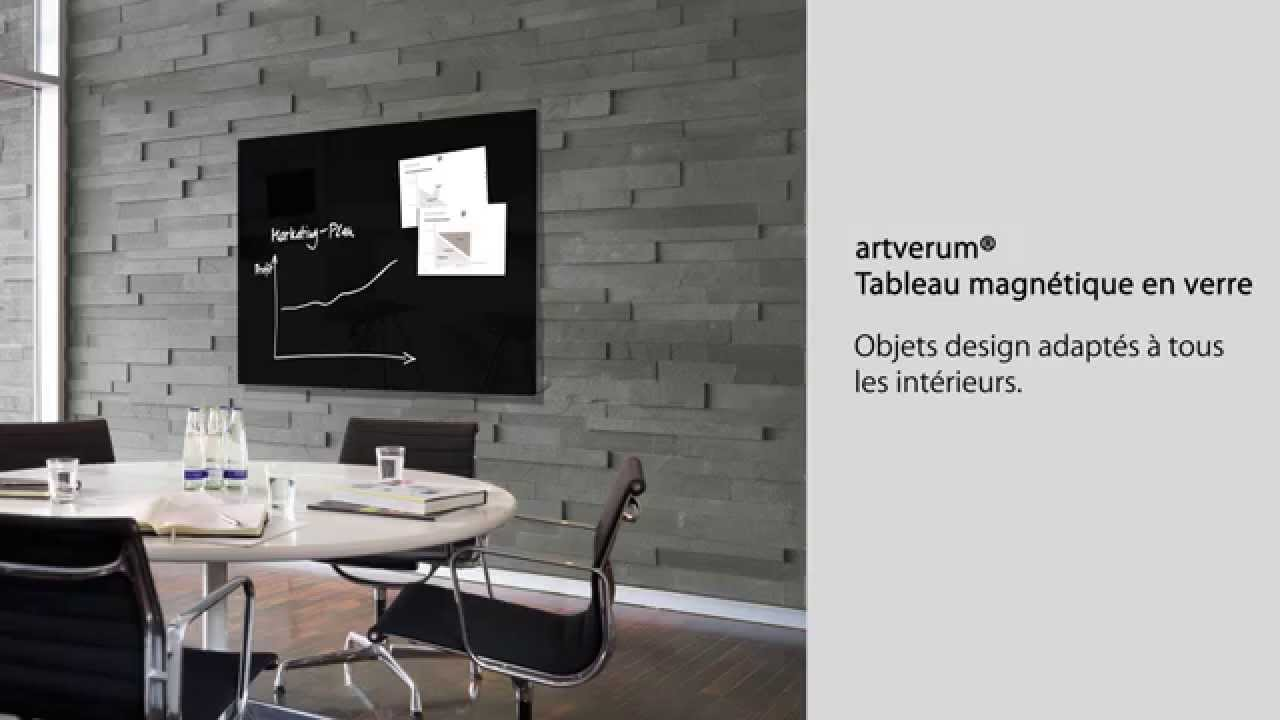 tableau magn tique en verre 39 39 39 39 artverum 39 39 39 39 120 x 90 cm noir gl210 youtube. Black Bedroom Furniture Sets. Home Design Ideas