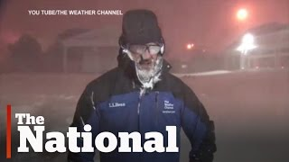Jim Cantore, Weather Channel meteorologist, freaks out on thundersnow