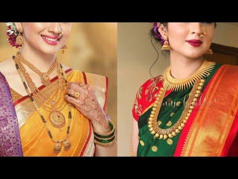 Maharashtrian Wedding Jewellery Set Pattern/beautiful Gold Bridal Jewellery Collection