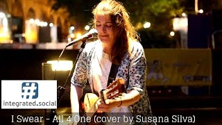 I Swear Contemporary R&B Song Cover - Susana Silva Street Performer Busking street performance
