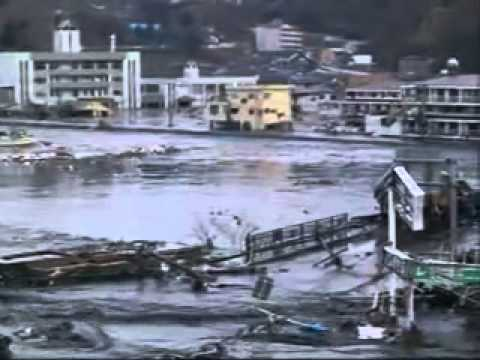 Tsunami at Kamaishi port, Iwate Prefecture