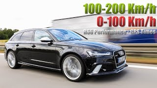 Audi RS6 Performace 100-200 und 0-100 km/h | Beschleunigung | Acceleration | GPS-Times
