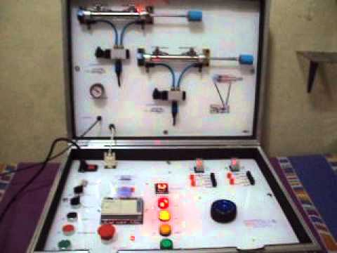 Electropneumatics And Plc Trainer With 2 Cylinders Youtube