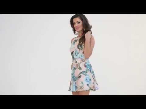 9a45e7271 Vestido Estampado Costas Tule - PKS Girl Verão 2016 - YouTube