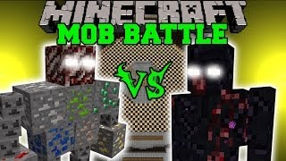 ORE BOSS VS MUTANT OBSIDIAN GOLEM - Minecraft Mob Battles - Fake Ores Mods