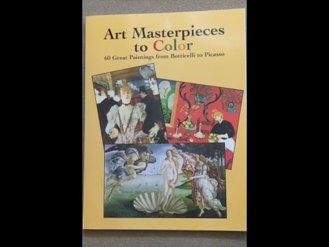 Art Masterpieces to Color - 60 Great Paintings from Botticelli to Picasso flip through
