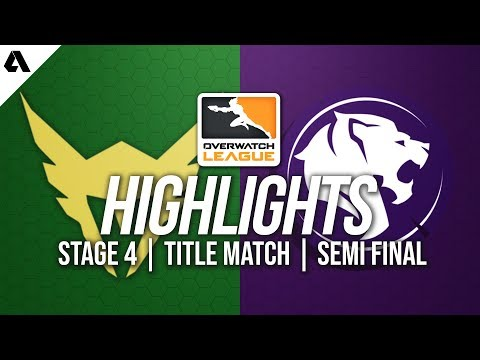 LA Valiant vs LA Gladiators | Overwatch League Highlights OWL Stage 4 Semi Finals