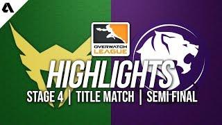 LA Valiant vs LA Gladiators | Overwatch League Highlights OWL Stage 4 Semi Finals