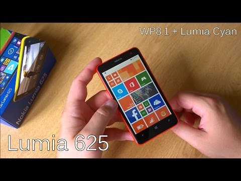 Nokia Lumia 625 + WP8.1 & Lumia Cyan - Unboxing & Review