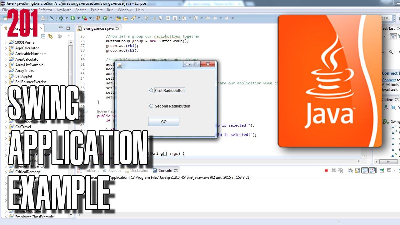Sample java swing application.