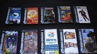 Sega Saturn All Ten pal exclusives games, only pal region, the fantastic ten.