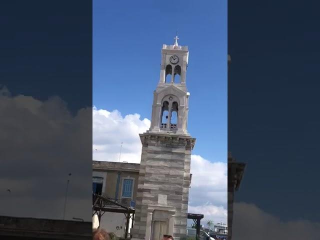 Το καμπαναριό του ΙΝ Σωτήρος Χριστού Πόθιας Καλύμνου την ώρα του σεισμού στη Σάμο