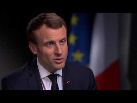 "Macron: ""Aggressive"" for U.S. to leave Paris climate accord"