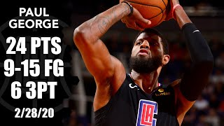 Paul George hosts 3-point clinic in Nuggets vs. Clippers   2019-20 NBA Highlights