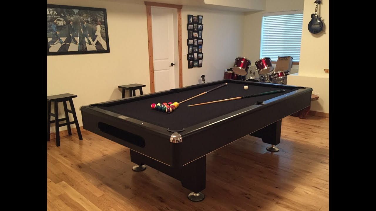 Assembly Of A Pool Table With Slates YouTube - Dufferin pool table