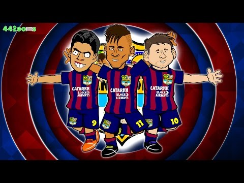 🎶MSN SONG🎶 Bayern Munich vs Barcelona 32 PARODY Champions League SemiFinal 2015 Goals Neymar