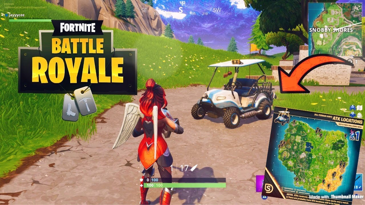 FORTNITE ALL ATK GOLF CART LOCATIONS (HOW TO FIND A GOLF CART ATK EVERY on golf accessories, golf card, golf players, golf games, golf words, golf machine, golf buggy, golf cartoons, golf hitting nets, golf tools, golf trolley, golf handicap,