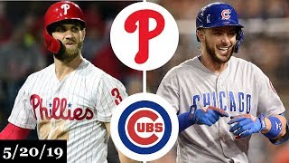 Philadelphia phillies vs chicago cubs - full game highlights   may 20, 2019 mlb season