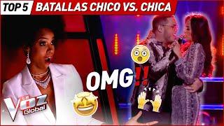 Las MEJORES Batallas entre CHICO vs. CHICA de La Voz