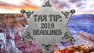 Tax Tip: 2019 Tax Deadlines