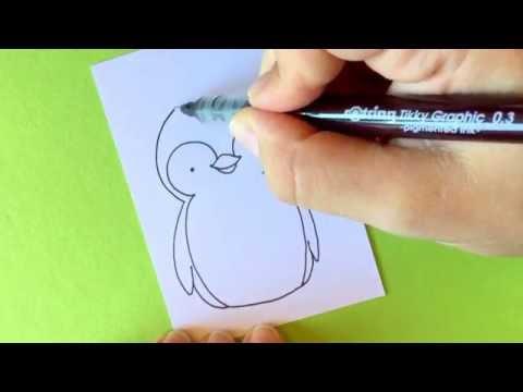 Wie male ich einen Pinguin