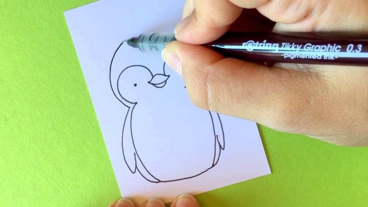 wie male ich einen pinguin youtube
