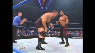 Brock Lesnar   Big Show vs The APA 10 30 2003   YouTube