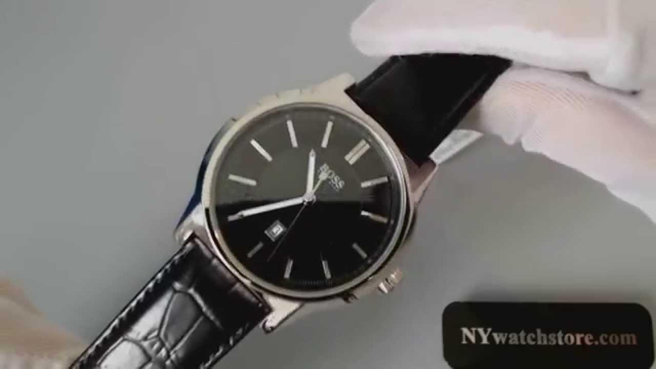 c68bd21c786c Men s Black Hugo Boss Architecture Dress Watch 1512911 - YouTube