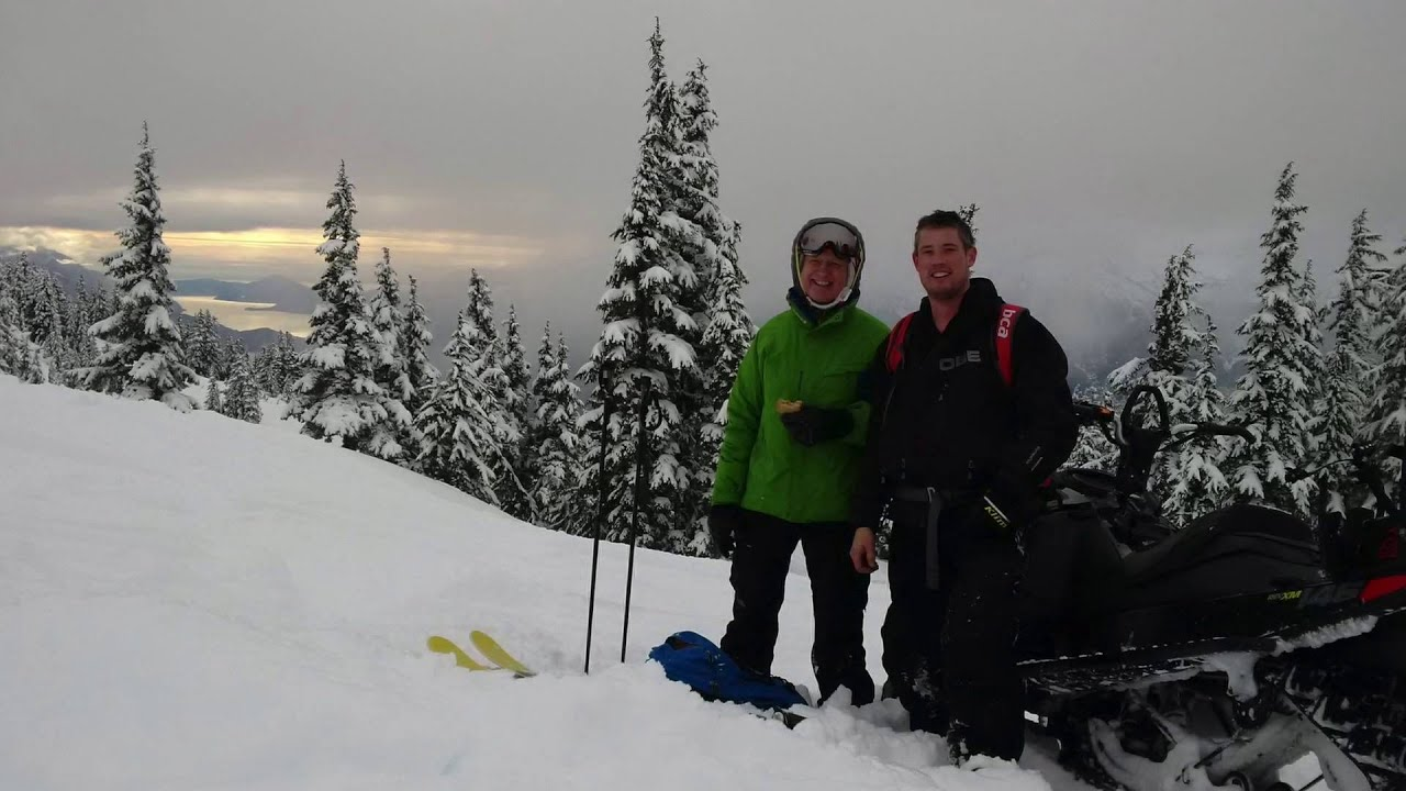 skiing on brohm ridge just south of whistler - youtube