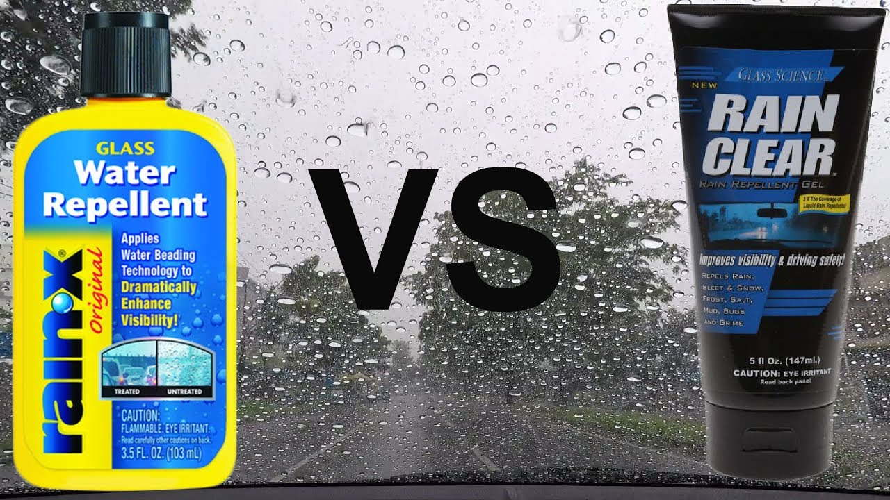 rain repellent rain x vs rain clear youtube. Black Bedroom Furniture Sets. Home Design Ideas