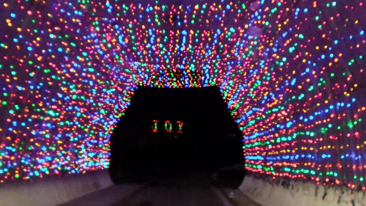 NH Motor Speedway holiday light tunnel